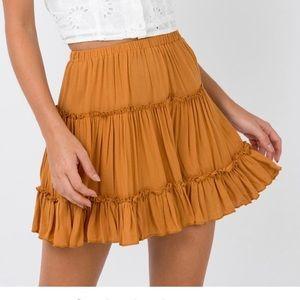 Meraki Mini Skirt (Mustard)